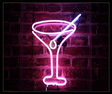Cocktail Glass 2 Neon Sign
